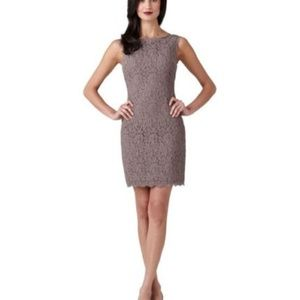 ADRIANNA PAPELL Boatneck Lace Sheath Dress S.8